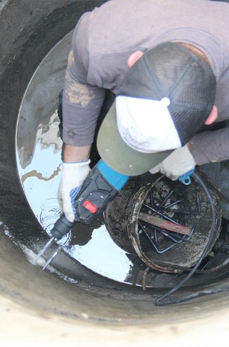 Как мы выполняем ремонт колодцев в Пушкинском районе
